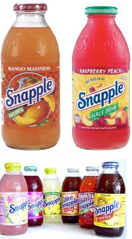 Old Snapple Bottles