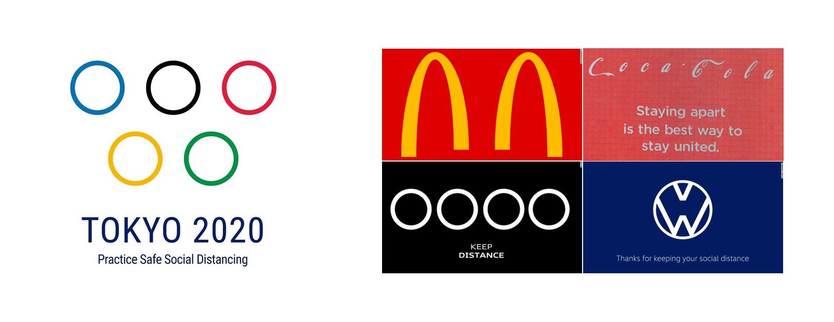 Social Distance Logos