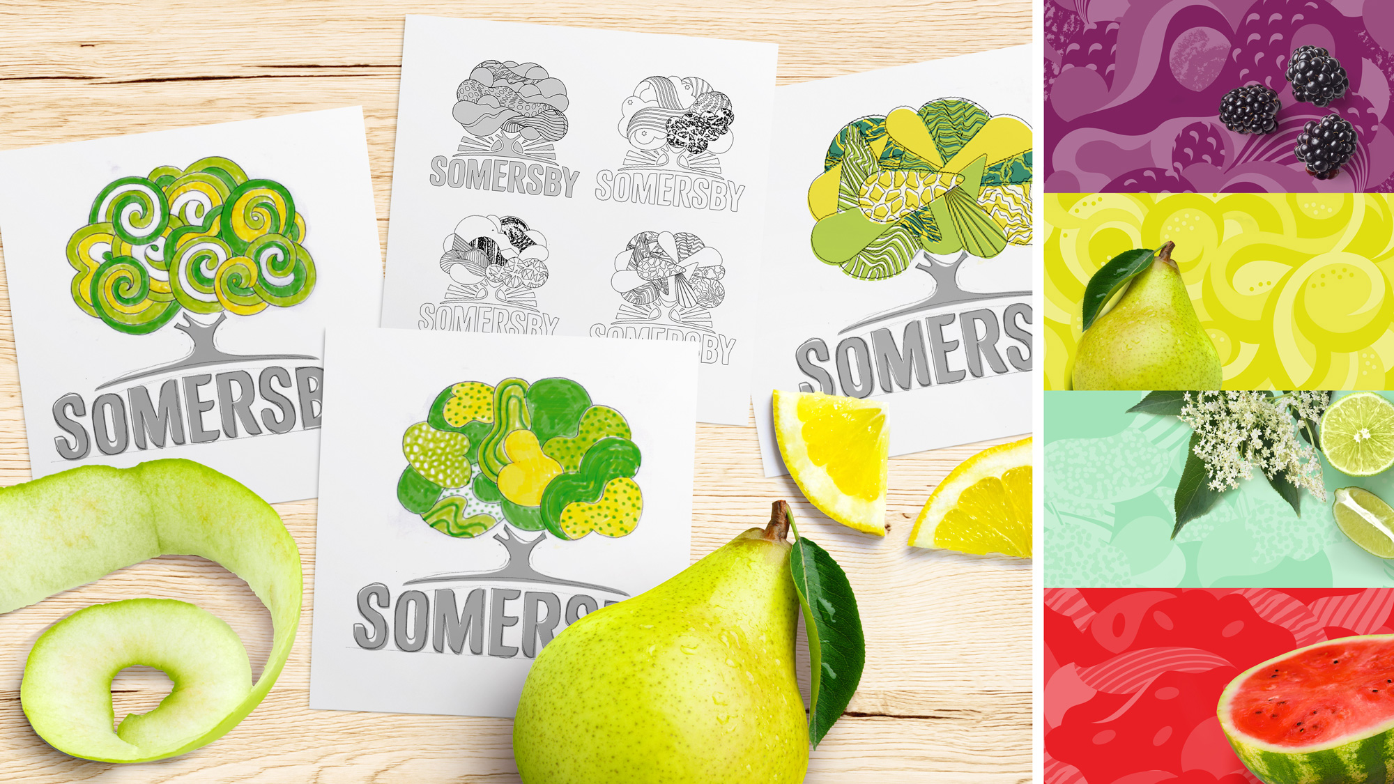 New Logo and Packaging for Somersby by Elmwood