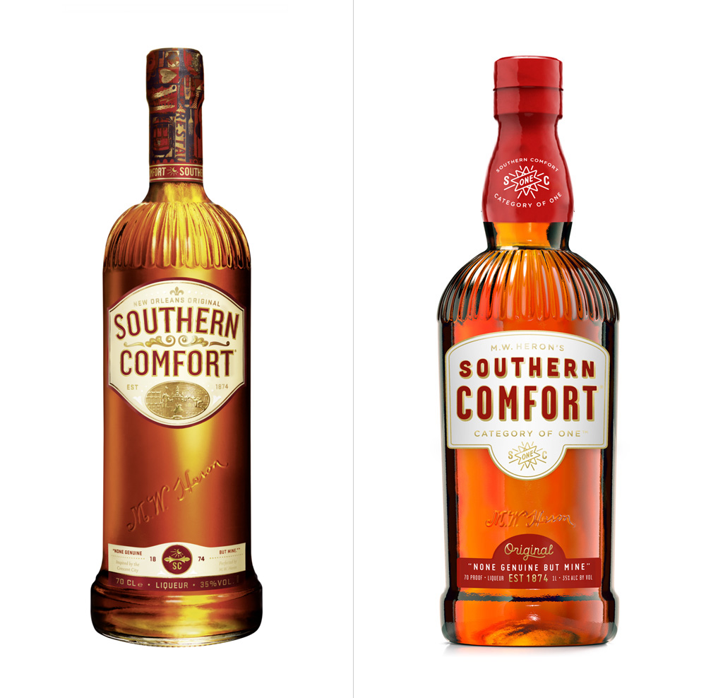 New Logo and Packaging for Southern Comfort by Helms Workshop