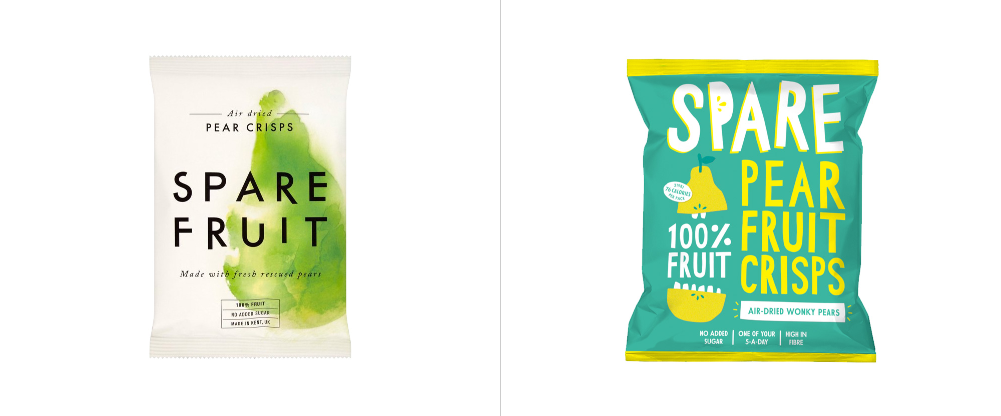New Logo and Packaging for Spare Snacks by The Clerkenwell Brothers