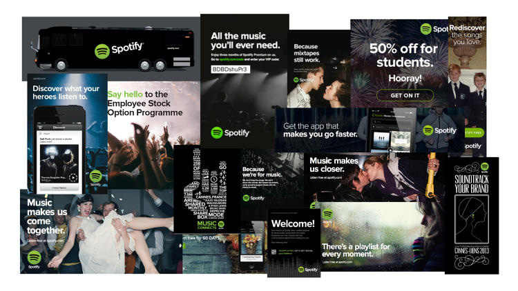New Identity for Spotify by Collins