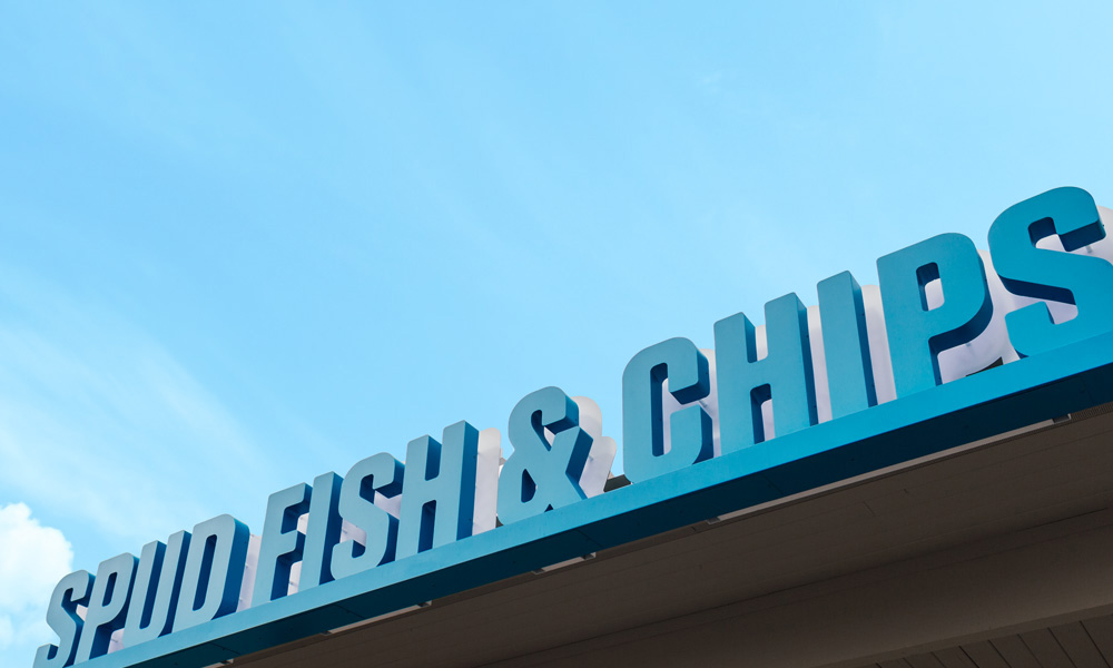New Logo and Identity for SPUD Fish & Chips by Platform