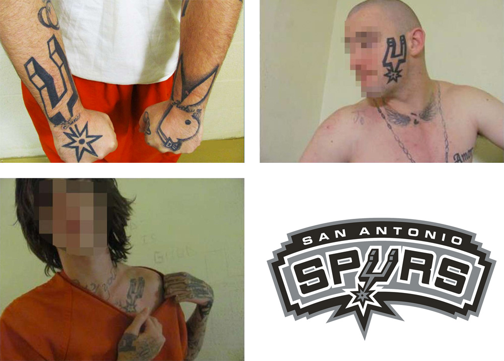 Spurs Logo Gang Tattoos
