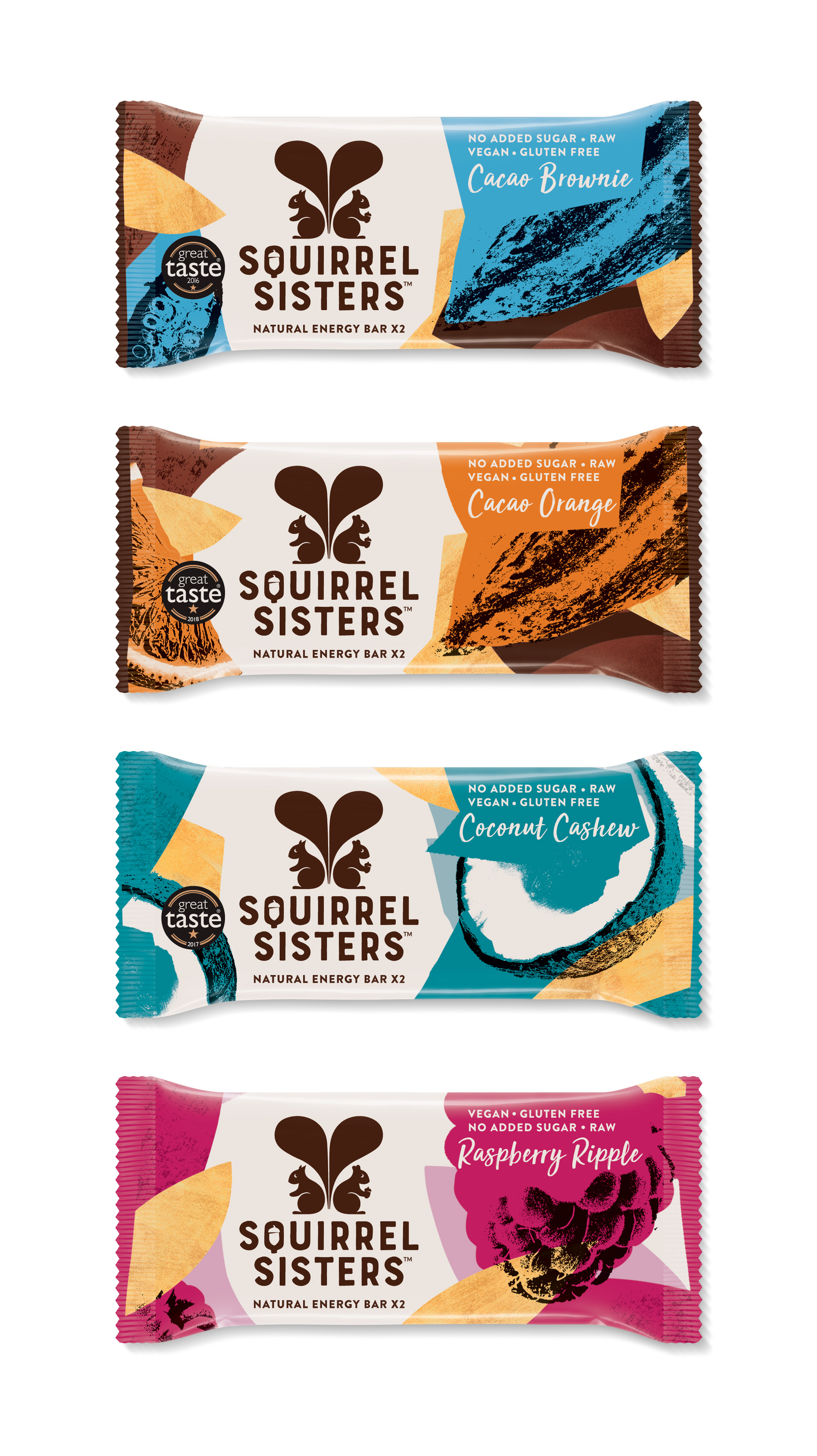 New Logo and Packaging for Squirrel Sisters by Design Bridge