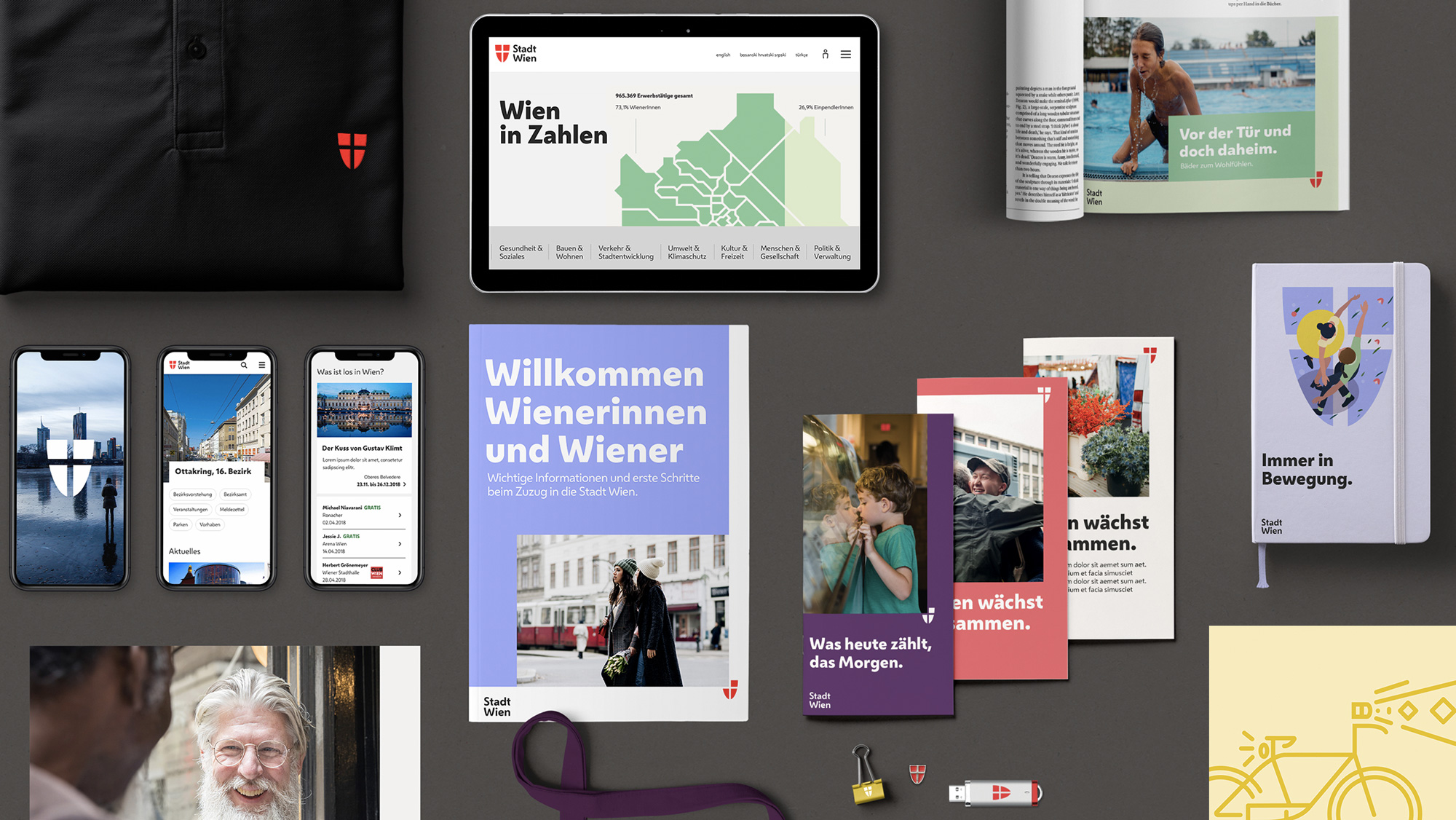 New Logo and Identity for City of Vienna by Saffron