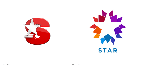 Star TV Logo, Before and After
