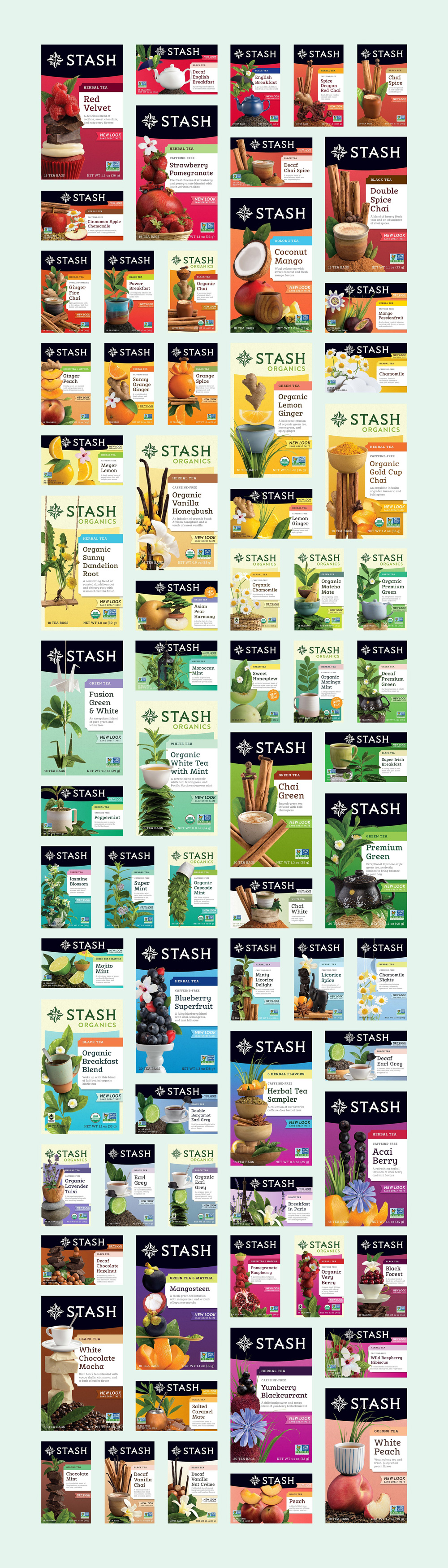 New Logo and Packaging for Stash Tea by Jolby & Friends