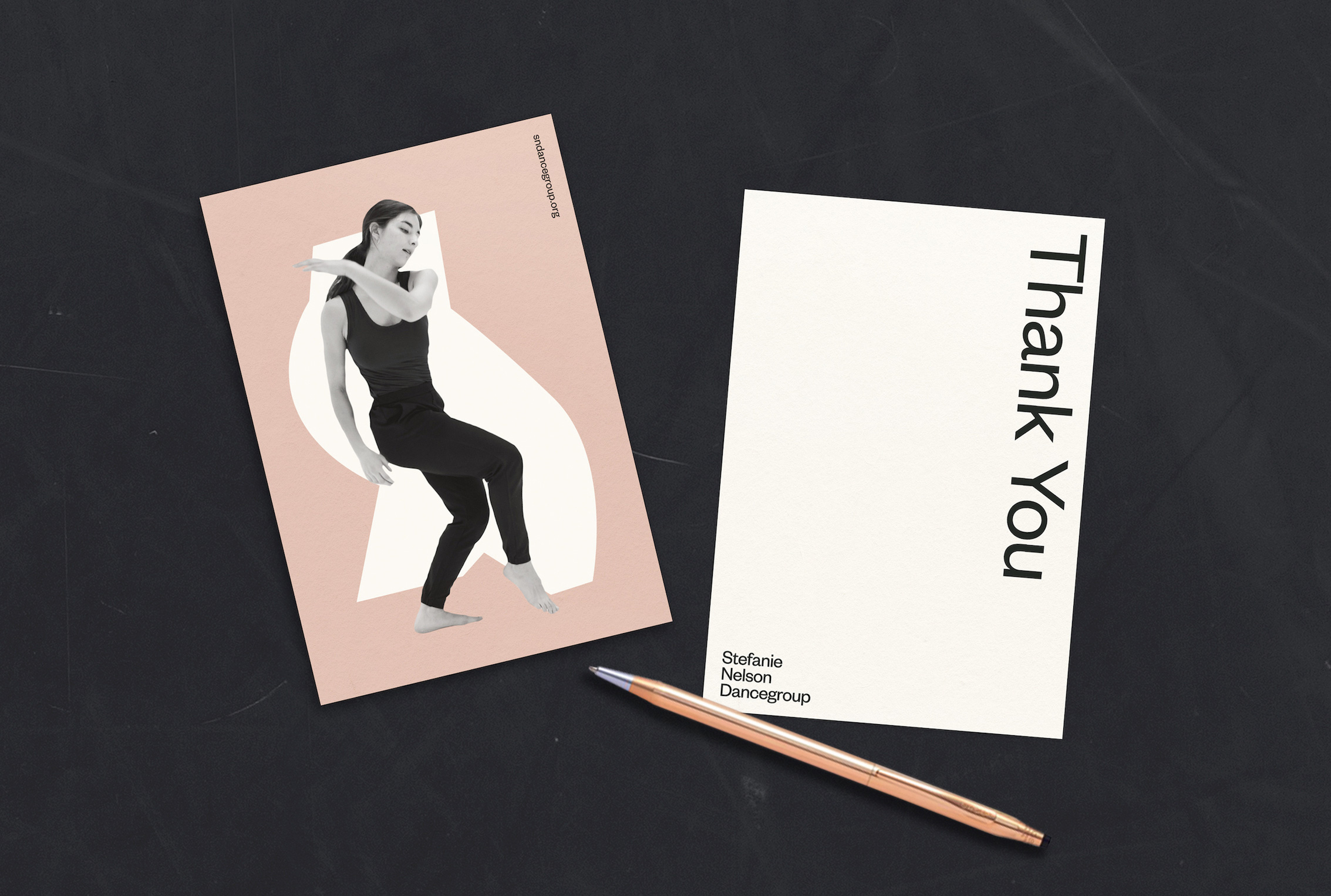 New Logo and Identity for Stefanie Nelson Dancegroup by Gretel