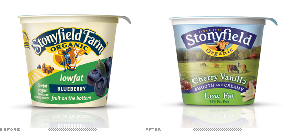 Sonyfield Packaging, Before and After