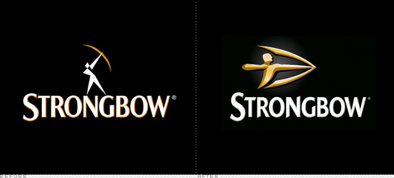 Strongbow Logo, Before and After