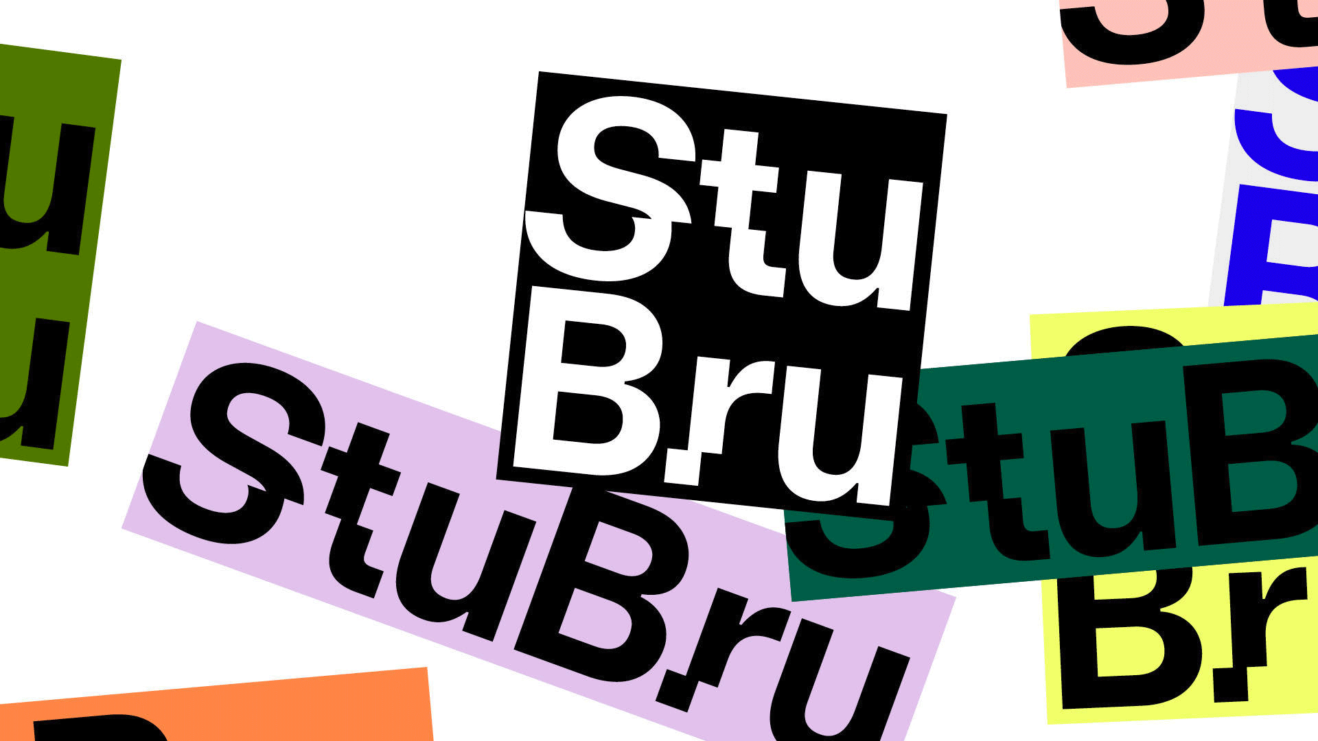 New Logo for Studio Brussels by Base