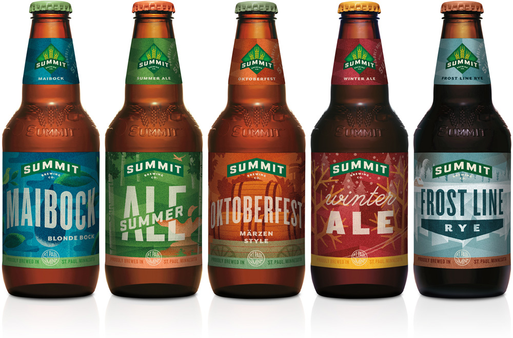 New Packaging for Summit Brewing Company by Duffy & Partners