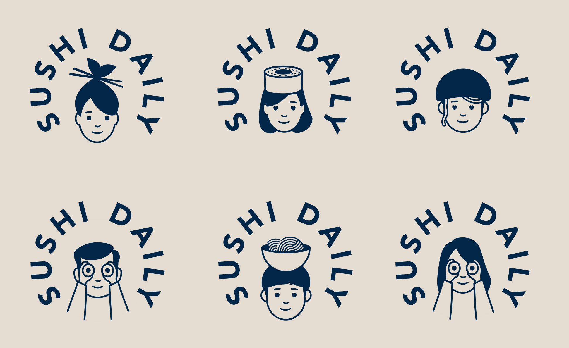 New Logo and Identity for Sushi Daily by Without