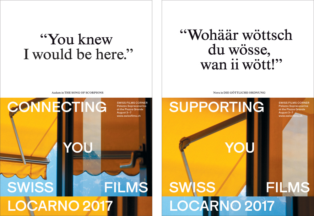 New Logo and Identity for SWISS FILMS by Studio NOI