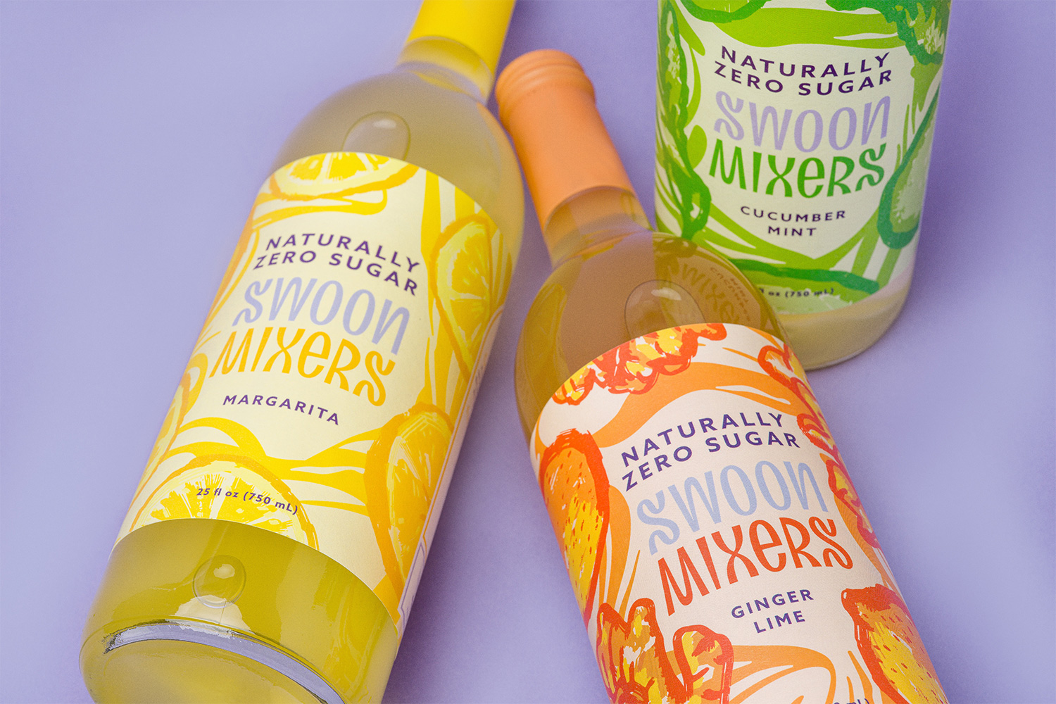 New Logo and Packaging for Swoon Mixers done In-House in collaboration with CENTER