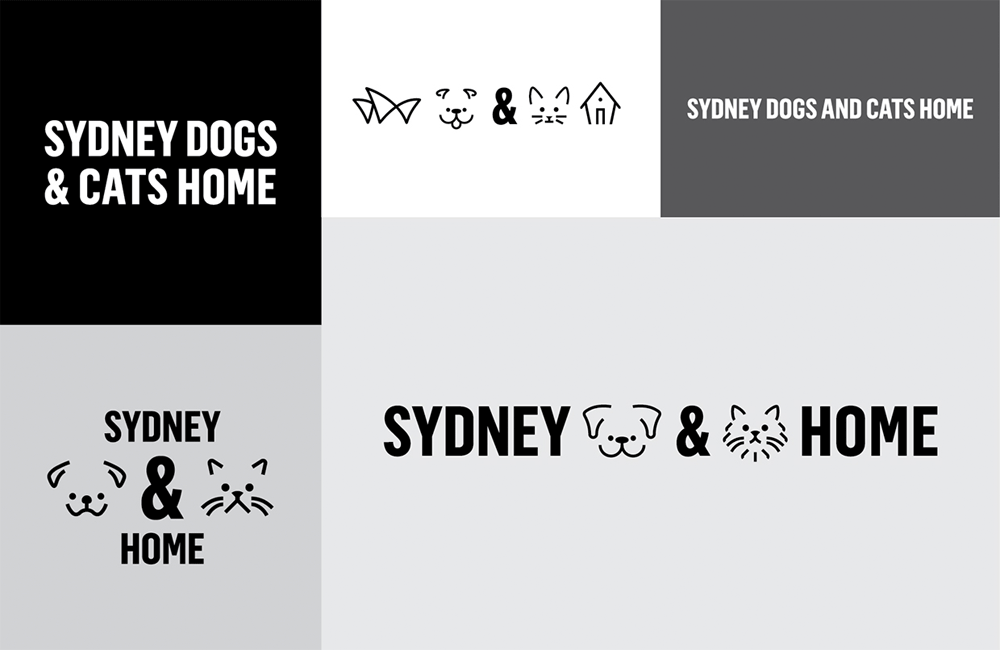 New Logo and Identity for Sydney Dogs & Cats Home by For the People