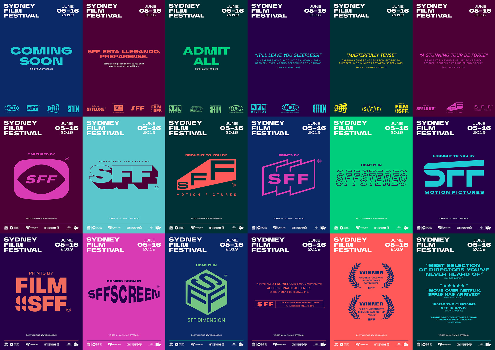 New Logo and Identity for Sydney Film Festival by For the People
