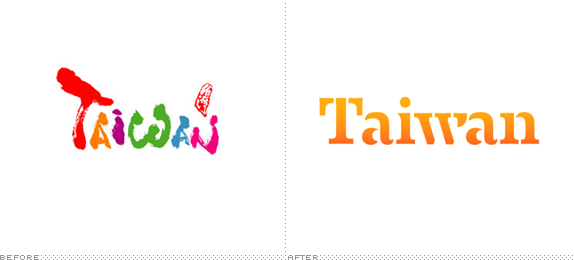 Taiwan Logo, Before and After