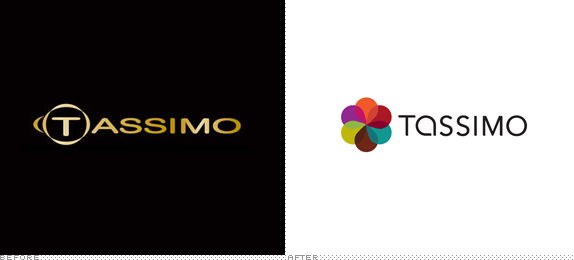 Tassimo Logo, Before and After