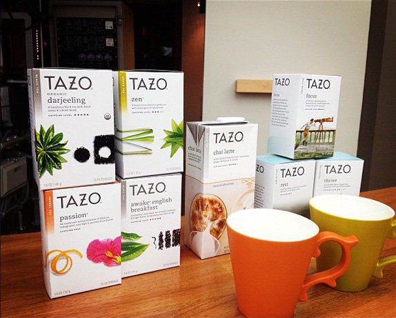 Tazo Logo and Packaging