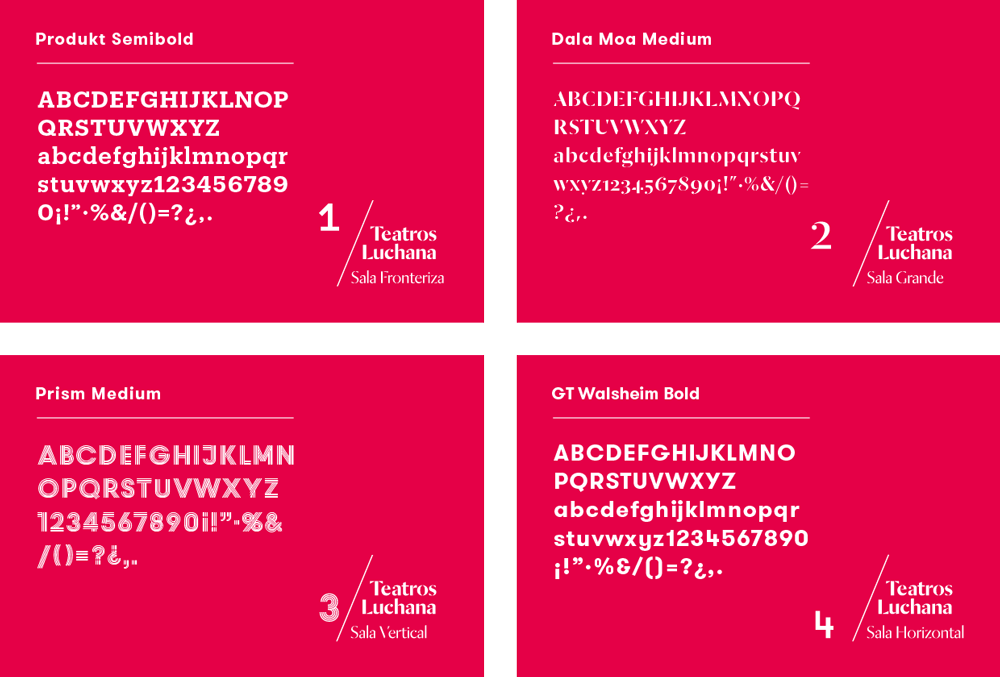 New Logo and Identity for Teatros Luchana by Toormix