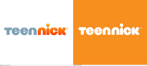 Teen Nick Logo, Before and After