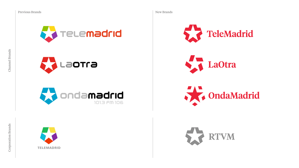 New Logo, Identity, and On-air Graphics for Telemadrid by Mucho and Cómodo Screen