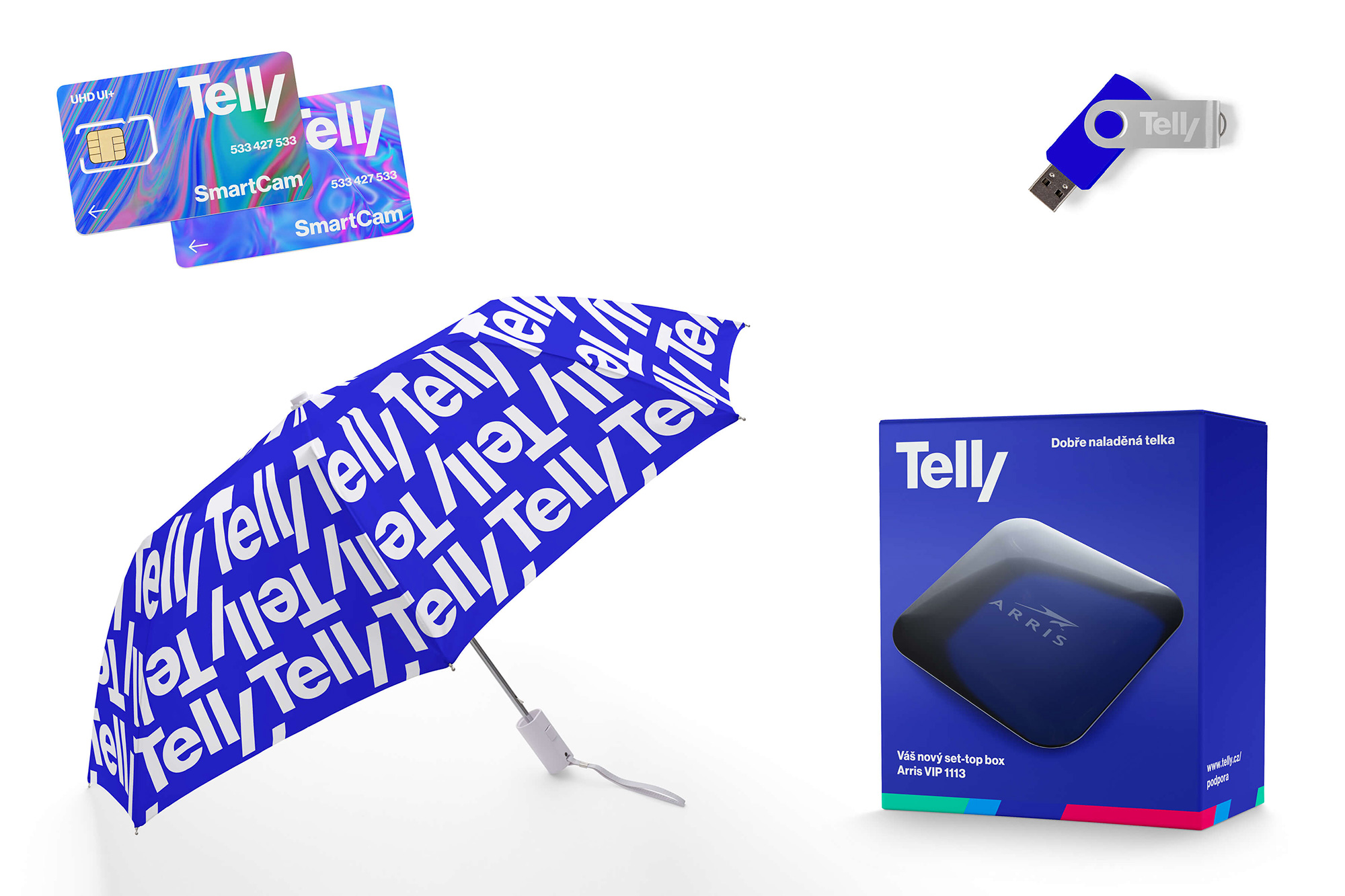 New Name, Logo, and Identity for Telly by Studio Najbrt