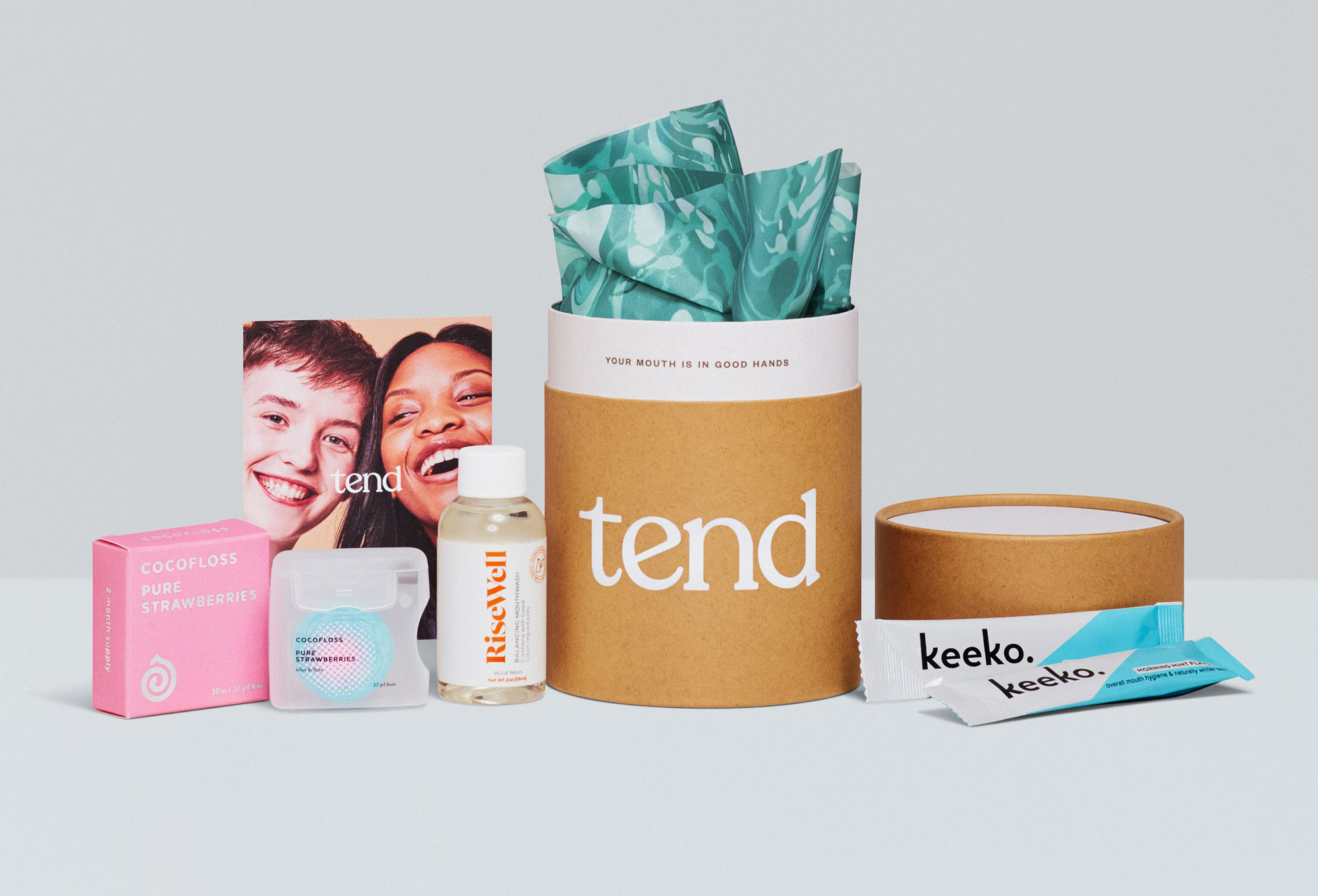 New Logo and Identity for Tend by Mythology