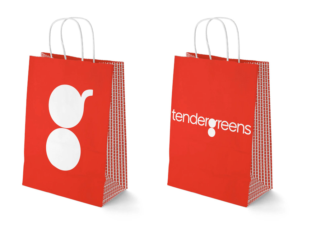 New Logo and Identity for Tender Greens by Pentagram