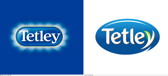 Tetley Logo, Before and After