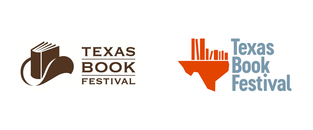 brand new new logo for texas book festival by pentagram