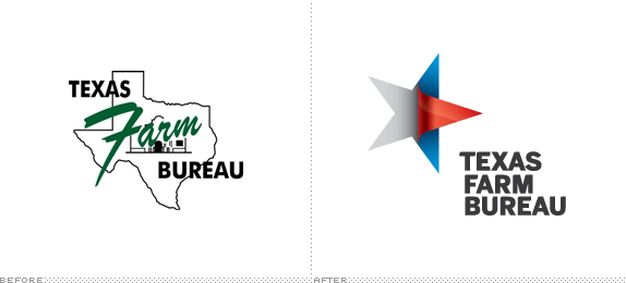 Texas Farm Bureau Logo, Before and After