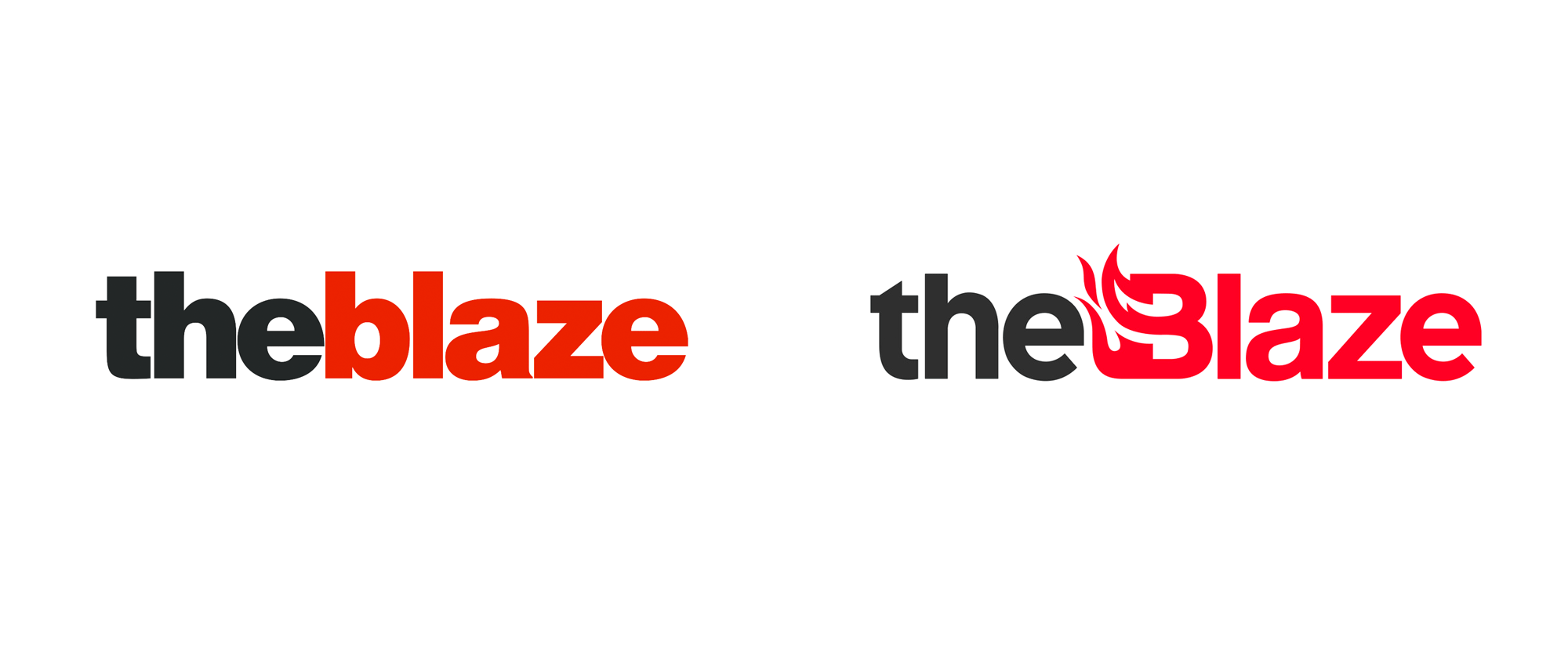New Logos and Identity for The Blaze and Blaze Media done In-house