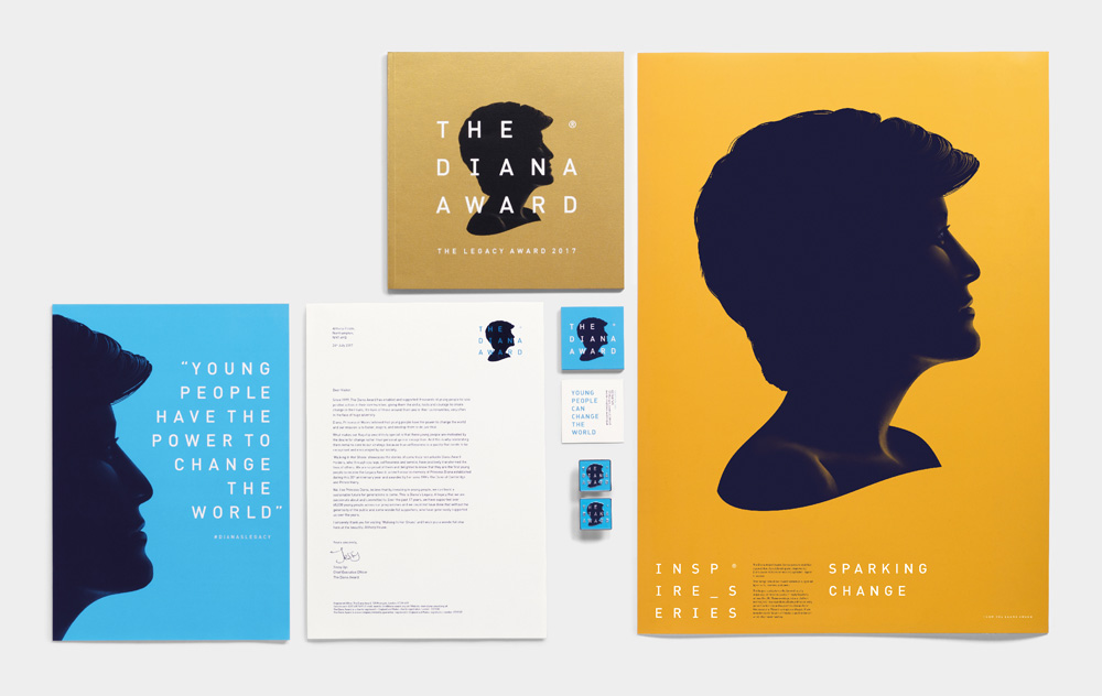 New Logo and Identity for The Diana Award by Jones Knowles Ritchie