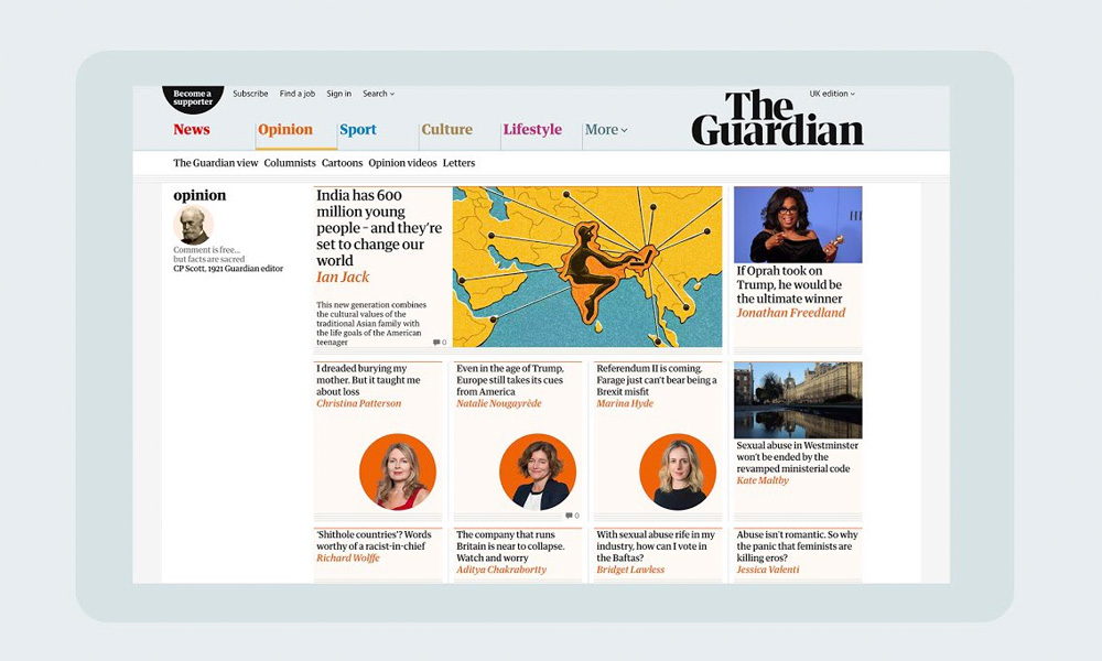 New Masthead for The Guardian