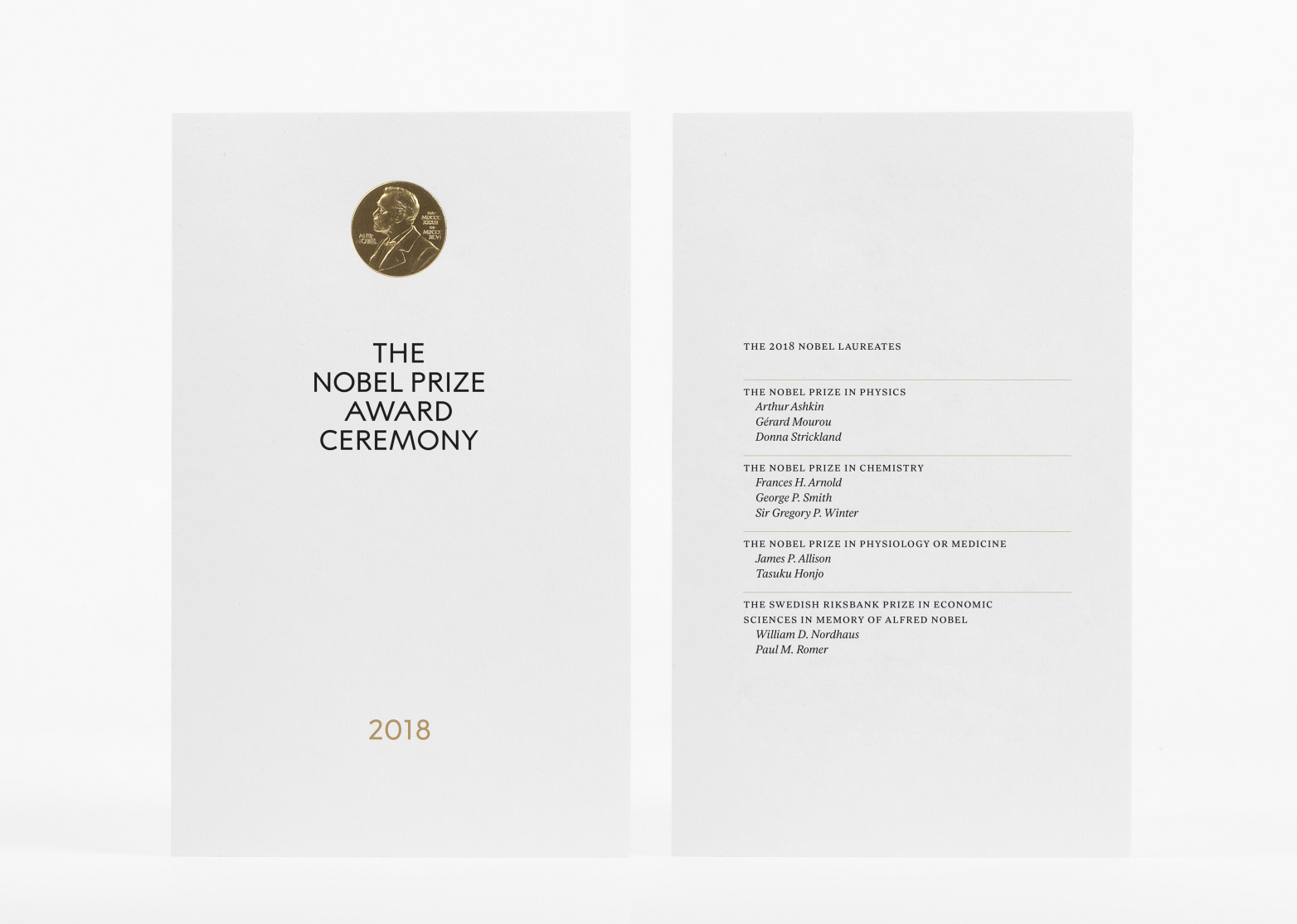 New Logo and Identity for The Nobel Prize by Stockholm Design Lab
