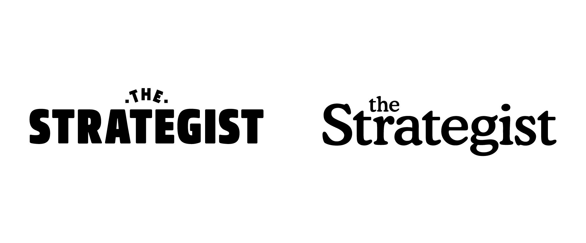 New Logo for The Strategist done In-house