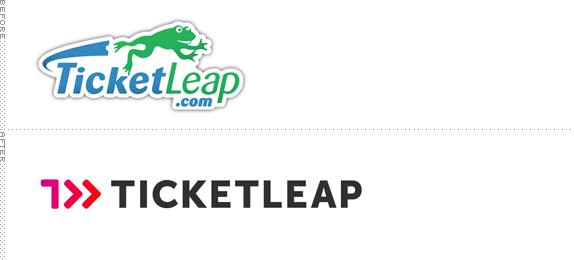 TicketLeap Logo, Before and After