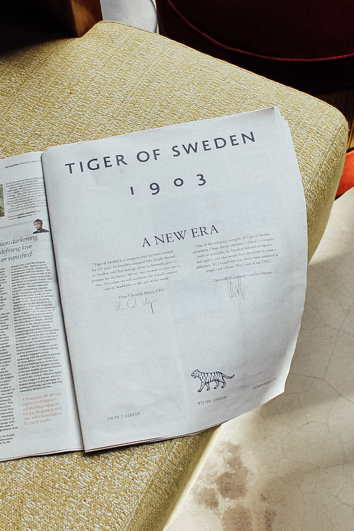 New Logo and Identity for Tiger of Sweden by A New Archive