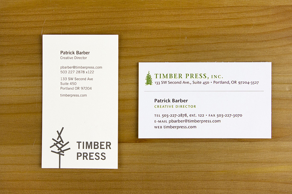Brand New: New Logo and Identity for Timber Press by Studio Jelly ...