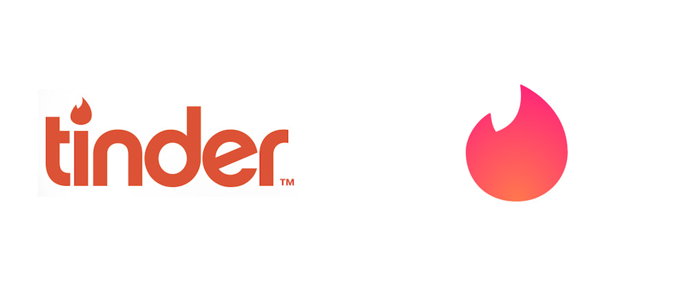New Logo for Tinder by DesignStudio in Collaboration with In-house