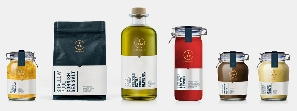 New Logo and Packaging for Tom Kerridge by The Clearing