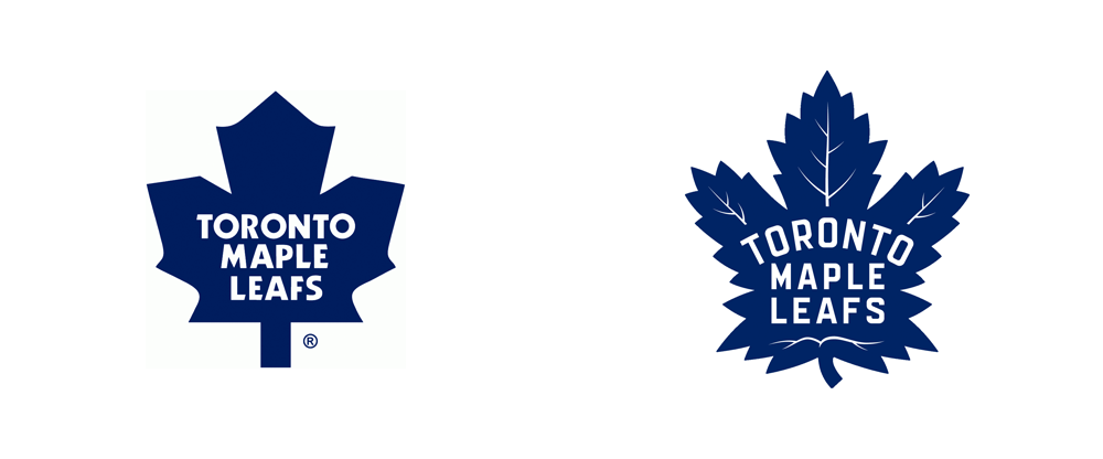 brand new new logo for toronto maple leafs by andrew sterlachini rh underconsideration com leaf logistics limited leaf logo images