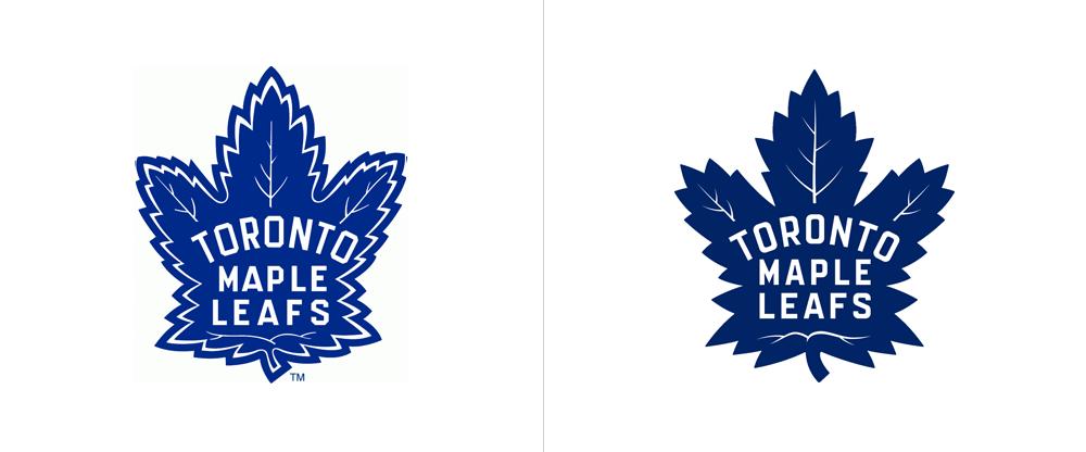 brand new new logo for toronto maple leafs by andrew sterlachini rh underconsideration com leaf logo text leafs logo wallpaper