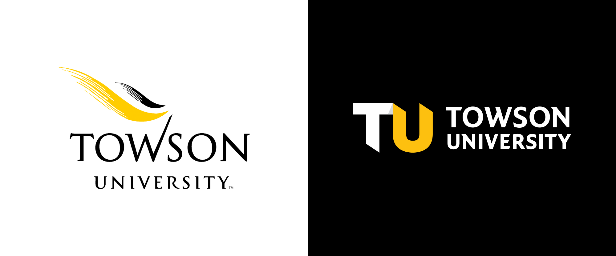 New Logo for Towson University by Mission Media