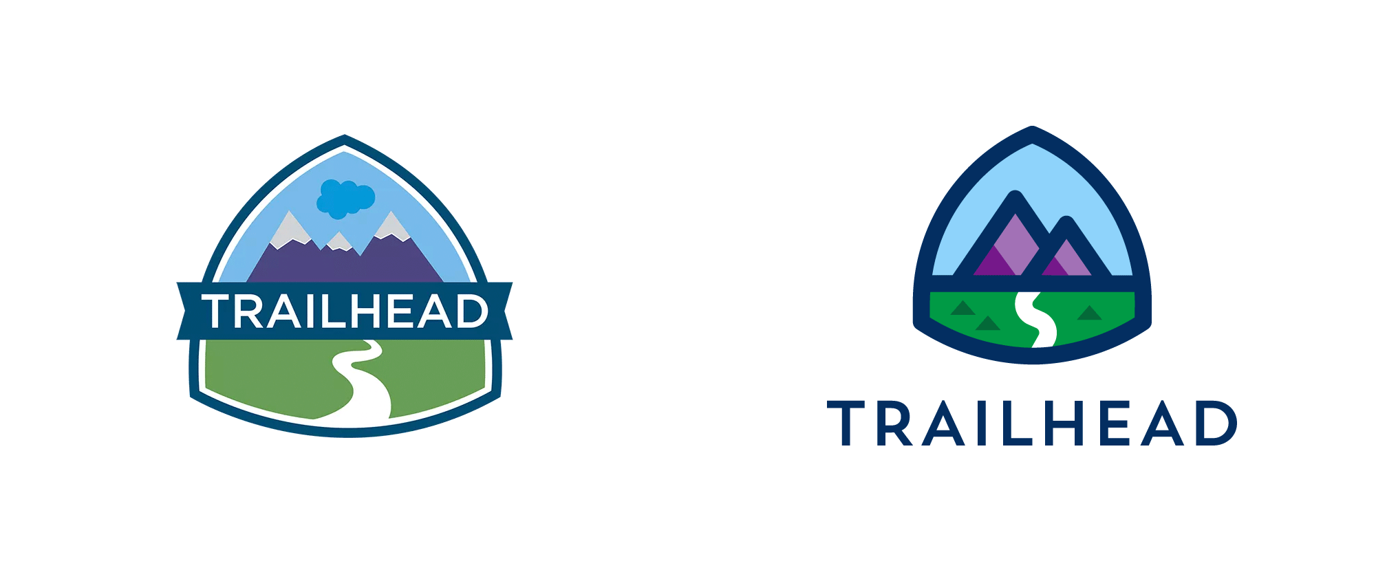 New Logo for Trailhead at Salesforce done In-house