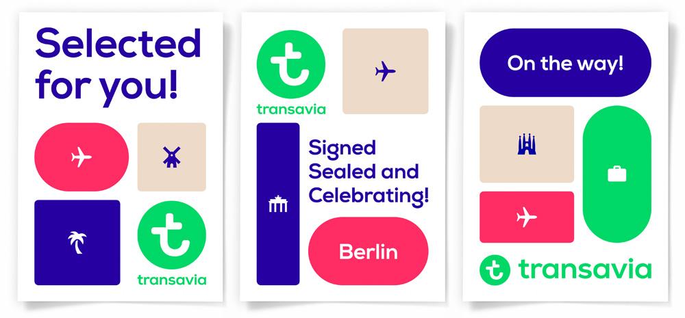 New Logo, Identity, and Livery for Transavia by Studio Dumbar