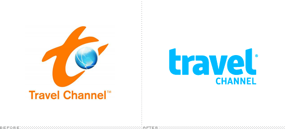 Travel Channel Logo, Before and After